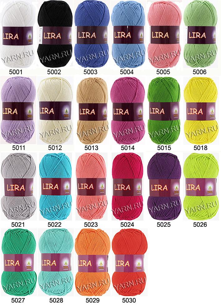 Пряжа для вязания палитра